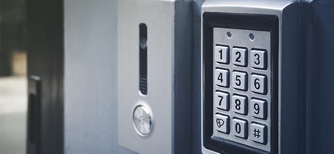 暗証番号式の鍵
