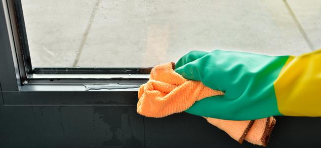 窓ガラスの結露を簡単に掃除する方法