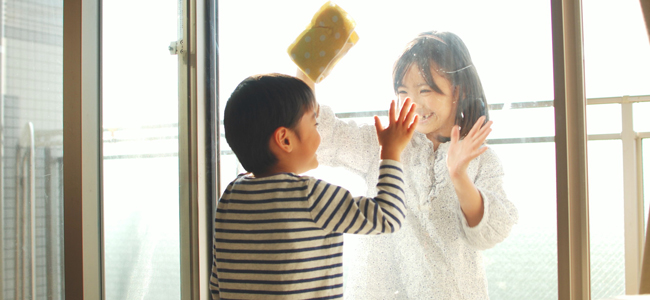 夏ならではの窓掃除テクニック